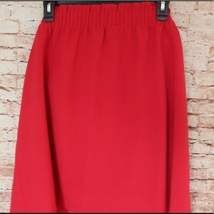 J. Crew | Mercantile Red Pull On Skirt